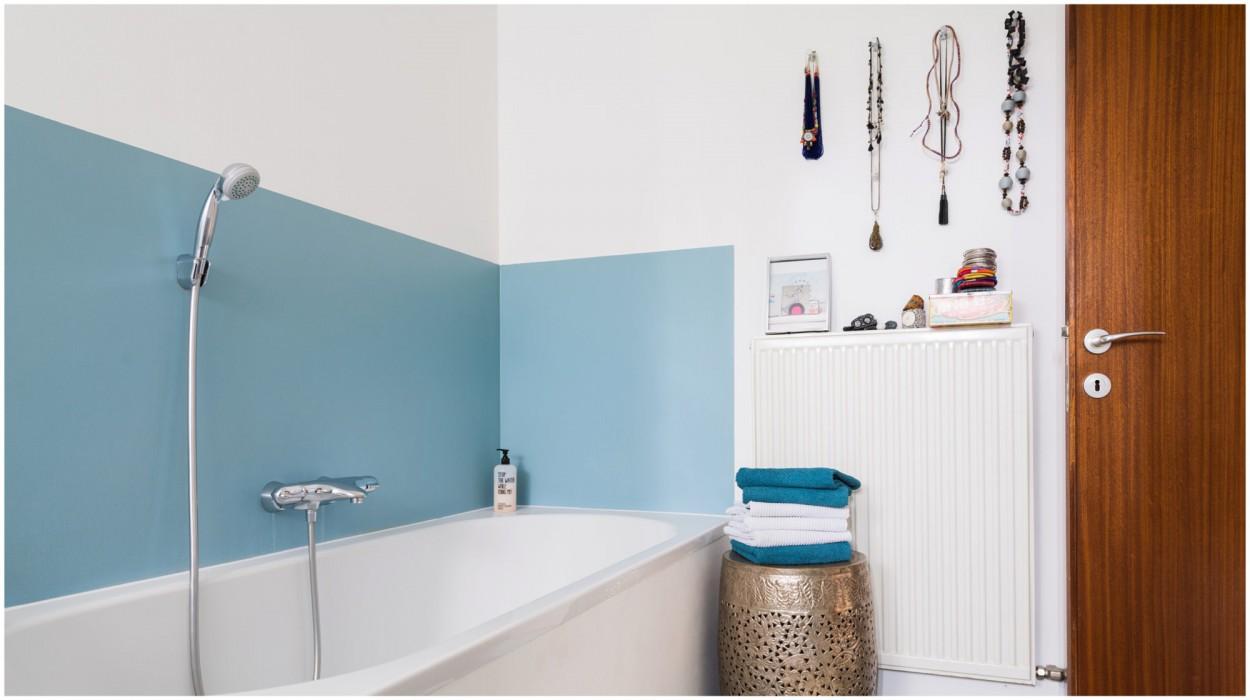 Cooles Badezimmer in einer Loftwohnung in Lustenau, Vorarlberg