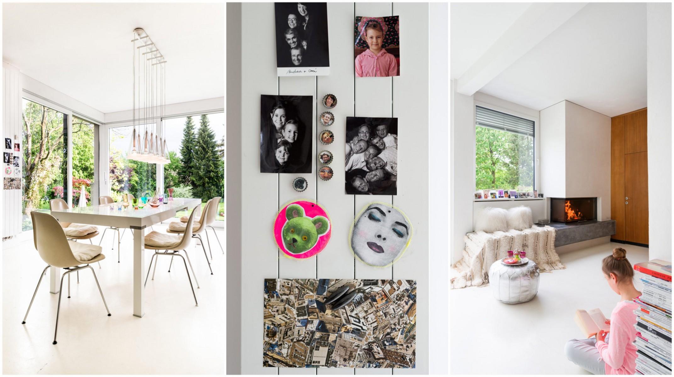 Coole Loftwohnung in Lustenau, Vorarlberg. Kreative Ideen und schönes Esszimmer - fast im Grünen